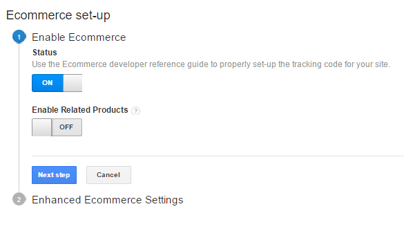 Google eCommerce modulio konfiguravimas